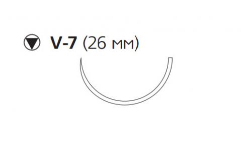 Викрил Плюс (Vicryl Plus) 3/0, длина 70см, кол-реж. игла 26мм, 1/2 окр., фиолетовая нить (VCP998H)