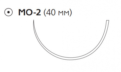 Пролен (Prolene) 0, длина 100см, кол. игла 40мм W8434