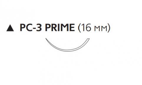 Пролен (Prolene) 6/0, длина 45см, реж. игла 16мм Prime W523
