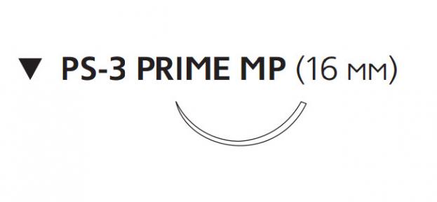 Рассасывающийся шовный материал Монокрил (Monocryl) 4/0, длина 45см, обр-реж. игла 16мм Prime MP, 3/8 окр., неокрашенная нить (MPY501H) Ethicon (Этикон)