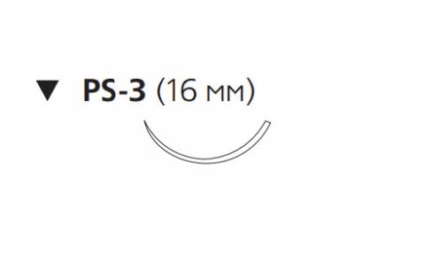 Викрил Плюс (Vicryl Plus) 5/0, длина 45см, обр-реж. игла 16мм VCP500H