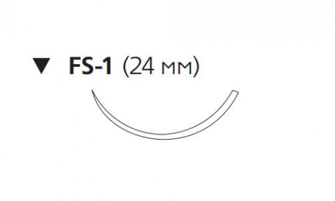 Викрил Плюс (Vicryl Plus) 3/0, длина 70см, обр-реж. игла 24мм, 3/8 окр., фиолетовая нить (VCP452H)