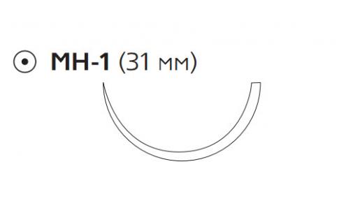 Монокрил (Monocryl) 0, длина 70см, кол. игла 31мм W3442