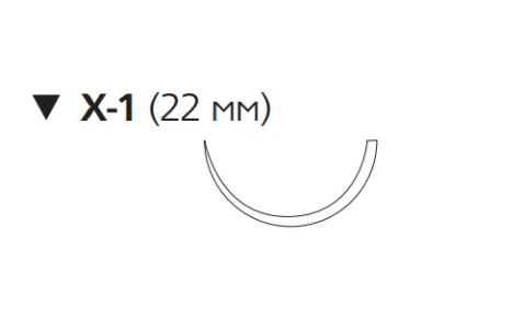 ПДС Плюс (PDS Plus) 3/0, длина 45см, обр-реж. игла 22мм PDP9740H