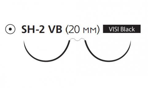 Пролен (Prolene) 4/0, длина 90см, 2 кол. иглы 20мм Visi Black W8340