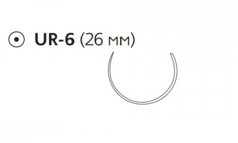Викрил Плюс (Vicryl Plus) 2/0, длина 70см, кол. игла 26мм VCP602H