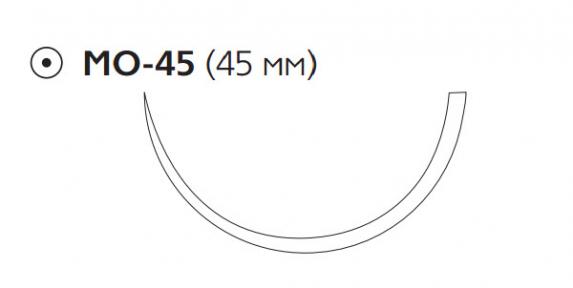 Рассасывающийся шовный материал Викрил (Vicryl) 2, длина 75см, кол. игла 45мм, 1/2 окр., фиолетовая нить (W9246) Ethicon (Этикон)