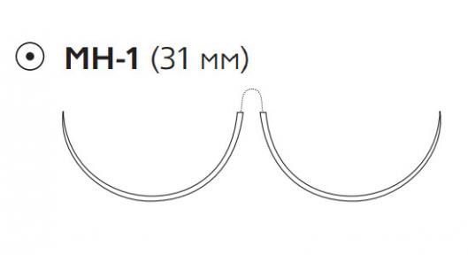 Пролен (Prolene) 2/0, длина 90см, 2 кол. иглы 31мм, 1/2 окр. (W8526)