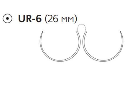 Викрил Плюс (Vicryl Plus) 2/0, длина 90см, 2 кол. иглы 26мм VCP2593H