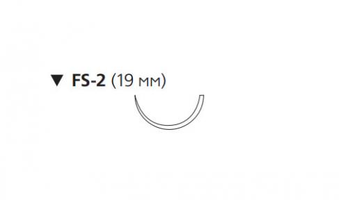 Рассасывающийся шовный материал ПДС II (PDS II) 4/0, длина 45см, обр-реж. игла 19мм, 1/2 окр., неокрашенная нить (W9950T) Ethicon (Этикон)