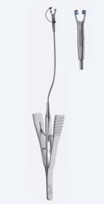 Зажим (клипсодержатель, клипаппликатор) для наложения титановых сосудистых клипс Yasargil (Яшаргил) YA1400T