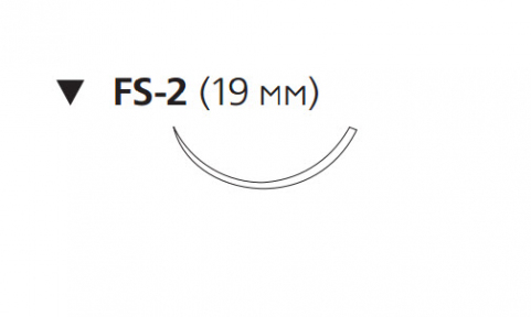 Викрил Плюс (Vicryl Plus) 4/0, длина 70см, обр-реж. игла 19мм VCP422H