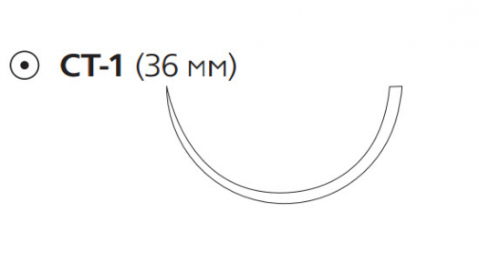 Викрил Плюс (Vicryl Plus) 0, длина 90см, кол. игла 36мм VCP346H