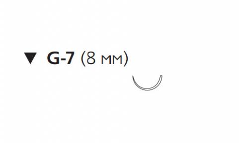 Нерассасывающийся шовный материал Этилон (Ethilon) 8/0, длина 45см, обр-реж. игла 8мм, 1/2 окр., черная нить (W1765) Ethicon (Этикон)