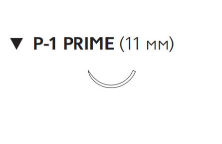 Викрил Рапид (Vicryl Rapide) 6/0, длина 45см, обр-реж. игла 11мм Prime W9913