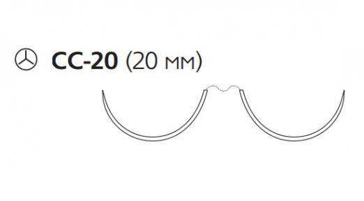 Пролен (Prolene) 4/0, длина 90см, 2 кол. иглы 20мм CC W8840