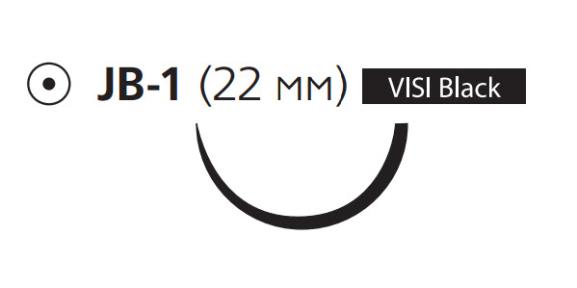 Рассасывающийся шовный материал Викрил (Vicryl) 3/0, длина 4шт. по 45см, кол. игла 22мм Visi Black, соединение Control Release, 1/2 окр., фиолетовая нить (V7820Е) Ethicon (Этикон)