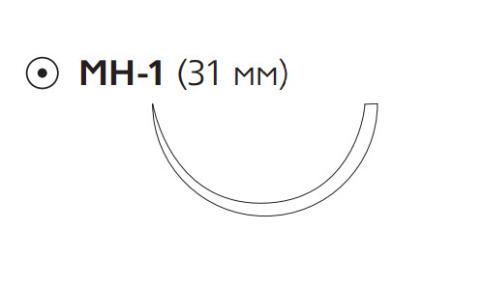 Рассасывающийся шовный материал с антибактериальным покрытием ПДС Плюс (PDS Plus) 4/0, длина 70см, кол. игла 31мм, 1/2 окр., фиолетовая нить (PDP9131H) Ethicon (Этикон)