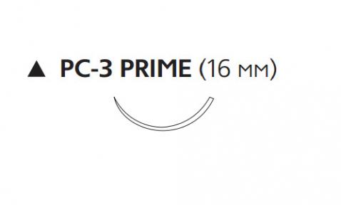 Рассасывающийся шовный материал Викрил (Vicryl) 3/0, длина 45см, реж. игла 16мм Prime, 3/8 окр., неокрашенная нить (W9507T) Ethicon (Этикон)