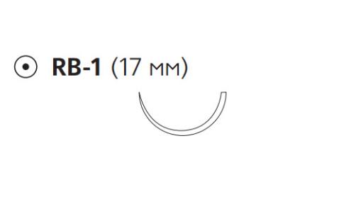 Нуролон (Nurolon) 3/0, 6шт. по 35см, кол. игла 17мм, 1/2 окр. (W6540)