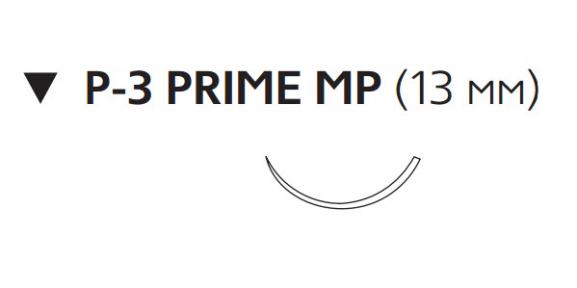 Рассасывающийся шовный материал Монокрил (Monocryl) 5/0, длина 45см, обр-реж. игла 13мм Prime MP, 3/8 окр., неокрашенная нить (MPY493H) Ethicon (Этикон)