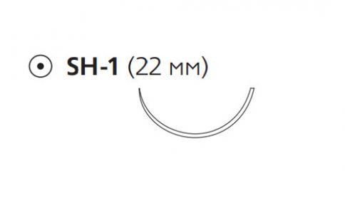 Пролен (Prolene) 3/0, длина 75см, кол. игла 22мм, 1/2 окр. (W8770)
