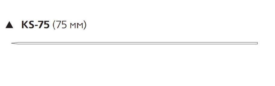Пролен (Prolene) 0, длина 100см, реж. игла 75мм KS-75 W753