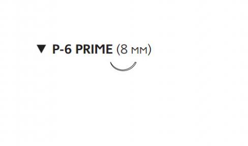 Рассасывающийся шовный материал ПДС II (PDS II) 6/0, длина 45см, обр-реж. игла 8мм Prime, 3/8 окр., фиолетовая нить (W9860H) Ethicon (Этикон)