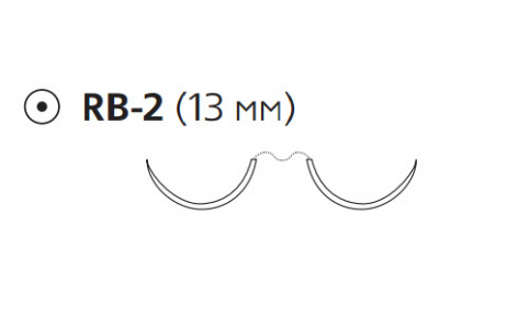 Пролен (Prolene) 5/0, длина 75см, 2 кол. иглы 13мм W8710
