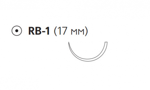 Рассасывающийся шовный материал Викрил Рапид (Vicryl Rapide) 4/0, длина 75см, кол. игла 17мм, 1/2 окр., неокрашенная нить (W9970) Ethicon (Этикон)
