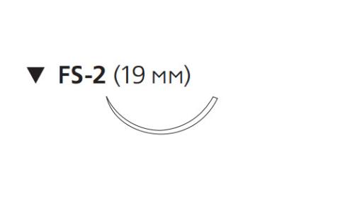 ПДС Плюс (PDS Plus) 4/0, длина 45см, обр-реж. игла 19мм PDP9950H