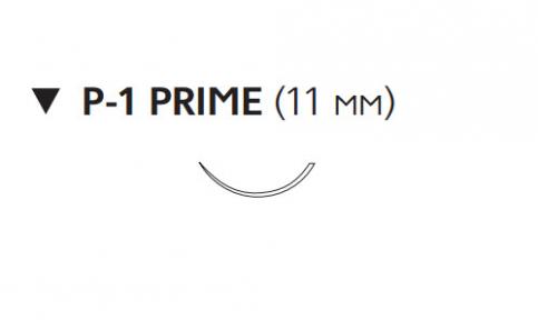 Пролен (Prolene) 6/0, длина 45см, обр-реж. игла 11мм Prime W8003T