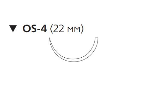 Нуролон (Nurolon) 1, длина 75см, обр-реж. игла 22мм, 1/2 окр. (W5957)