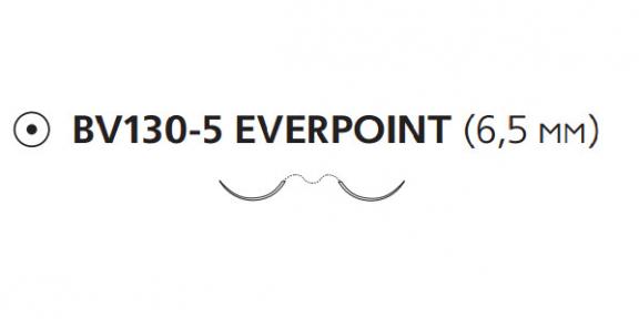 Пролен (Prolene) 8/0, длина 45см, 2 кол. иглы 6,5мм BV130 Everpoint EP8730H