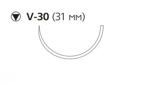 Викрил Плюс (Vicryl Plus) 2/0, длина 70см, кол-реж. игла 31мм VCP9360H