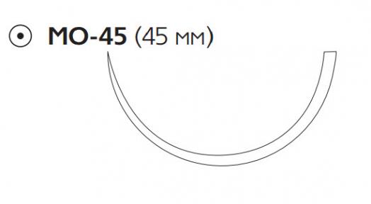 Викрил Плюс (Vicryl Plus) 1, длина 70см, кол. игла 45мм VCP9245H