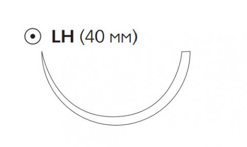 ПДС II (PDS II) 3/0, длина 70см, кол. игла 40мм, 1/2 окр., фиолетовая нить (W9152T)