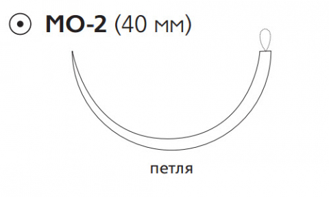 ПДС II (PDS II) 0, длина 150см, кол. игла 40мм W9236T