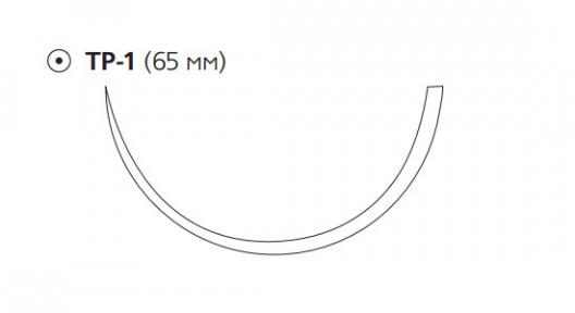 Викрил (Vicryl) 2/0, длина 75см, кол. игла 65мм, 1/2 окр., фиолетовая нить (W9158)