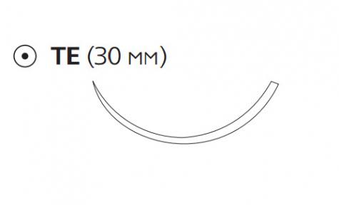 Монокрил (Monocryl) 2/0, длина 70см, кол. игла 30мм W3416