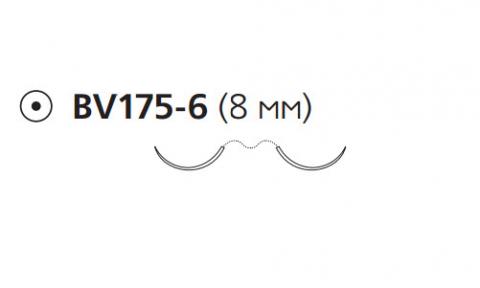 Этилон (Ethilon) 8/0, длина 45см, 2 кол. иглы 8мм BV175 W8170