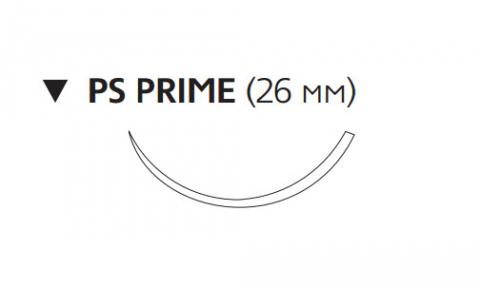 Рассасывающийся шовный материал Викрил (Vicryl) 2/0, длина 75см, обр-реж. игла 26мм Prime, 3/8 окр., неокрашенная нить (W9527T) Ethicon (Этикон)