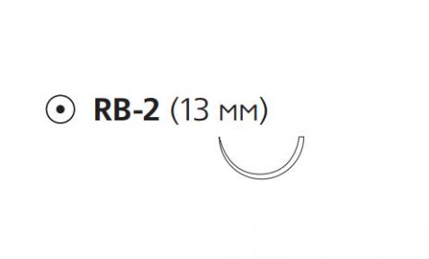 Рассасывающийся шовный материал Монокрил (Monocryl) 6/0, длина 45см, кол. игла 13мм, 1/2 окр., фиолетовая нить (W3224) Ethicon (Этикон)