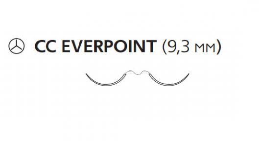 Пролен (Prolene) 6/0, длина 60см, 2 кол. иглы 9,3мм CC Everpoint EP8807H