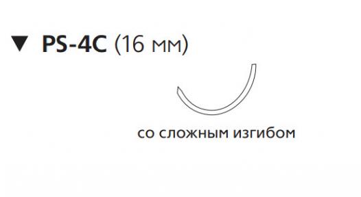 Викрил (Vicryl) 5/0, длина 75см, обр-реж. игла 16мм W9436
