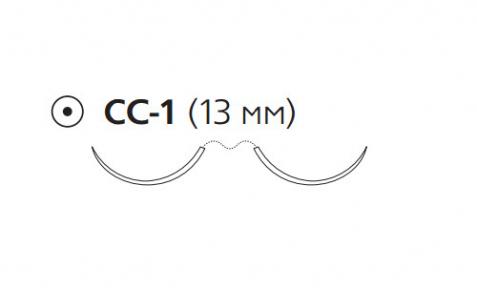 ПДС II (PDS II) 6/0, длина 60см, 2 кол. иглы 13мм CC Z1032H