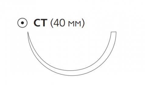ПДС II (PDS II) 2/0, длина 70см, кол. игла 40мм W9151T