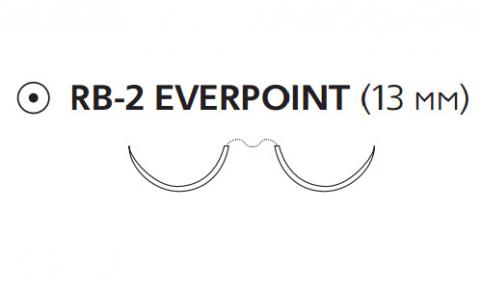 Пролен (Prolene) 6/0, длина 75см, 2 кол. иглы 13мм Everpoint EP8711H