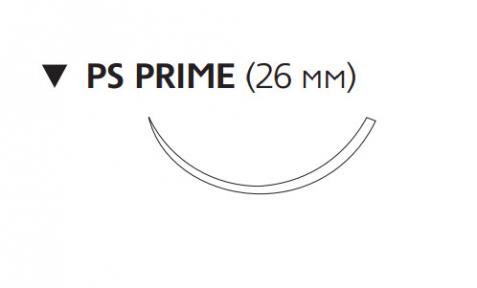 Нерассасывающийся шовный материал Этилон (Ethilon) 3/0, длина 45см, обр-реж. игла 26мм Prime, 3/8 окр., синяя нить (W1625T) Ethicon (Этикон)