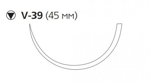 Викрил Рапид (Vicryl Rapide) 0, длина 90см, кол-реж. игла 45мм W9947